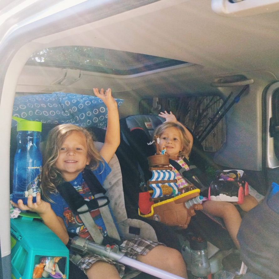 road trips and camping with kids