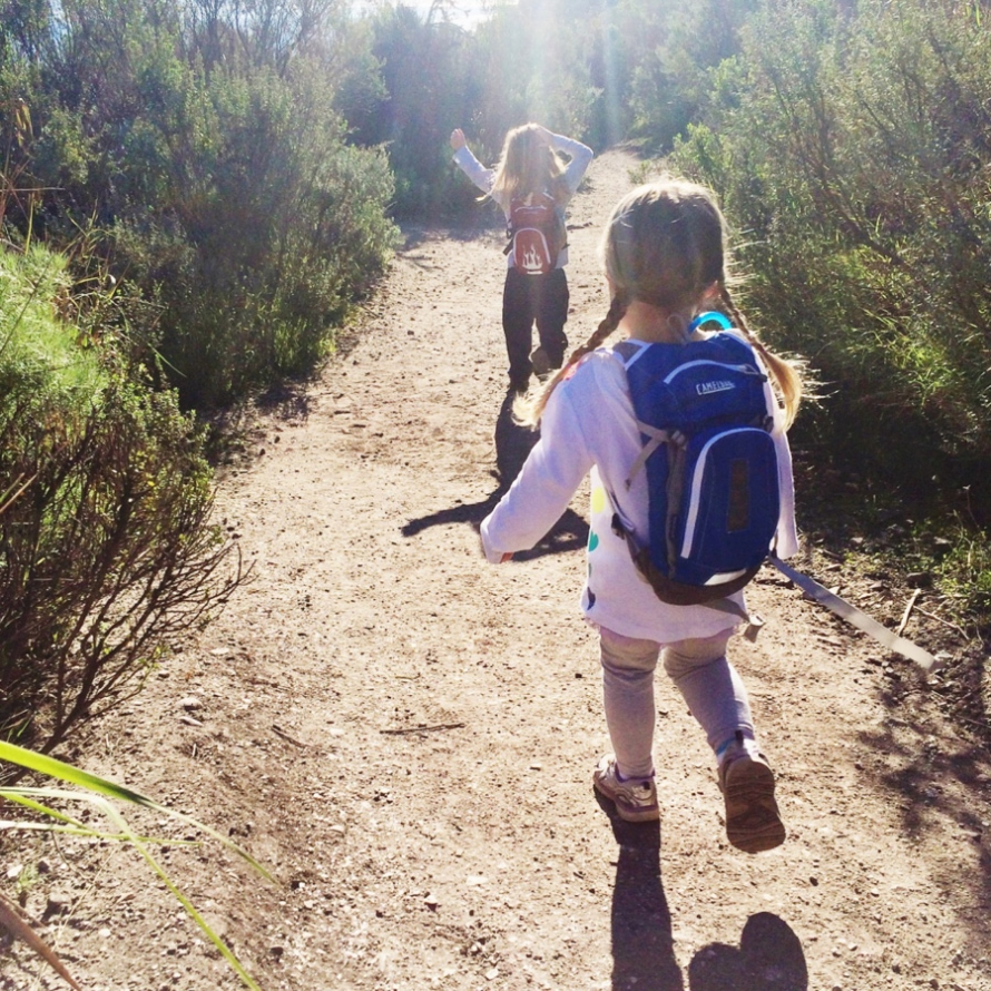 hiking with kids central coast